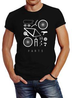 Fahrrad Teile Herren T-Shirt Bicycle Parts Neverless®