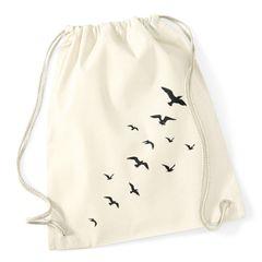 Turnbeutel Vögel Birds Hipster Beutel Tasche Stringbag Beuteltasche Gymbag