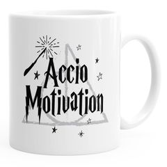Spruch-Tasse Accio Motivation Kaffeetasse Teetasse Keramiktasse MoonWorks®