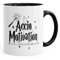 Kaffee-Tasse Accio Motivation Teetasse Keramiktasse Spruch-Tasse MoonWorks®