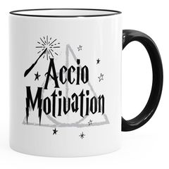 Kaffee-Tasse Spruch Accio Motivation Teetasse Keramiktasse MoonWorks®