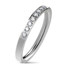 Eleganter Damen Ring aus Edelstahl | glänzende Zirkonia-Kristalle | Partnerring | Verlobungsring | Ehering