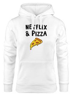 Kapuzen-Pullover Damen Netflix & Pizza Serienjunkie chillen Hoodie Moonworks®