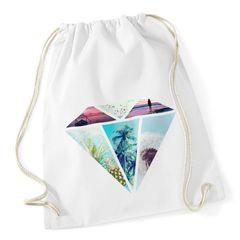 Turnbeutel Diamant Galaxy Ananas Pool Foto Druck Hipster Beutel Tasche Gym Bag