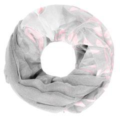 leichter Damen XXL Schlauchschal Infinity Loop Schal Rundschal Blumen Blüten Tube Scarf Floraler Print Autiga®