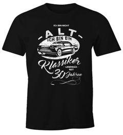 Herren Geschenk T-Shirt Geburtstag Ich bin nicht alt Ich bin ein Klassiker Auto Oldtimer Spruch 30-90 Jahren Moonworks®