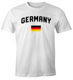 Moonworks® Herren Deutschland Fan-Shirt T-Shirt Fußball WM EM Fan-Trikot Weltmeisterschaft Europameisterschaft
