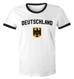 WM Shirt 2018 Fußball Deutschland Adler Wappen Herren Retro MoonWorks