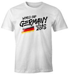 Herren Fan-Shirt Deutschland WM 2018 Fußball Weltmeisterschaft Trikot Flagge T-Shirt Fußball-Shirt Deutschland-Shirt Fan-Trikot Deutschland-Trikot Moonworks®