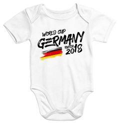 cooler Baby Body WM Fußball Weltmeisterschaft 2018 World Cup Deutschland Flagge Moonworks®