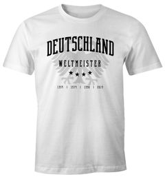 Herren Fan-Shirt Deutschland Adler WM 2018 Fußball Weltmeisterschaft Trikot Moonworks®