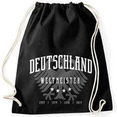 Turnbeutel WM Fußball Deutschland Weltmeistser Adler Bundesadler Moonworks®