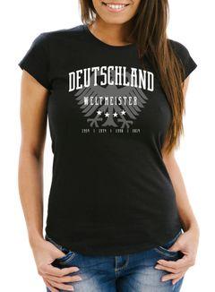 Damen Fan-Shirt Deutschland Adler WM 2018 Fußball Weltmeisterschaft Trikot Moonworks®