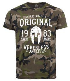 Neverless® Cooles Herren T-Shirt Original Gladiator Camouflage Camo-Shirt Tarnmuster