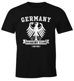 Herren T-Shirt WM Deutschland Fußball Germany Drinking Team Fun-Shirt Moonworks®