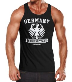 Cooles Herren Tanktop mit Lustigem WM Motiv Deutschland Germany Drinking Team Moonworks®