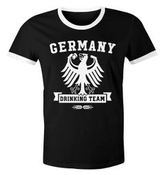 Lustiges Herren WM-Shirt Fußball Deutschland Germany Drinking Team 2018 Retro