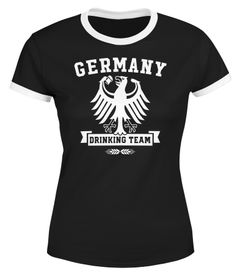 Lustiges Damen WM-Shirt Fußball Deutschland Germany Drinking Team WM 2018 Moonworks®