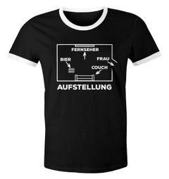 Herren WM-Shirt Aufstellung Fußball WM 2018 Bier Frau raus Couch Mannschaft 2018 Retro