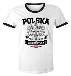 Herren WM-Shirt WM Polska Polen Poland Flagge World Cup Drinking Team 2018 Retro Fun