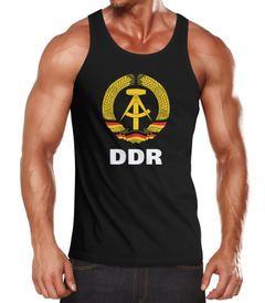 Herren Tanktop DDR Fan Retro Nostalgie Moonworks®