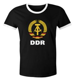Herren WM-Shirt DDR Fan Nostalgie Retro Moonworks®