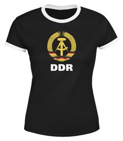 Damen WM-Shirt DDR Fan Retro Nostalgie Moonworks®