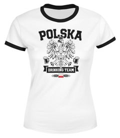 Damen WM-Shirt Polska Polen Poland Flagge World Cup Drinking Team WM 2018 Moonworks®