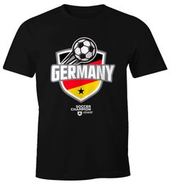 Herren T-Shirt Fan-Shirt WM Deutschland Germany Fußball Weltmeisterschaft Moonworks®