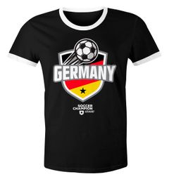 Herren T-Shirt Fan-Shirt WM-Shirt Badge Germany Deutschland Flagge Fußball Weltmeisterschaft 2018 Retro Fan-Trikot Moonworks®