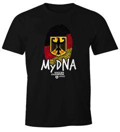 Deutschland Fußball WM Herren T-Shirt DNA Daumen Finger-Abdruck Flagge Moonworks®