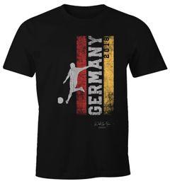 Herren Fan-Shirt Deutschland Flagge Vintage WM 2018 Fußball Weltmeisterschaft Trikot Moonworks®