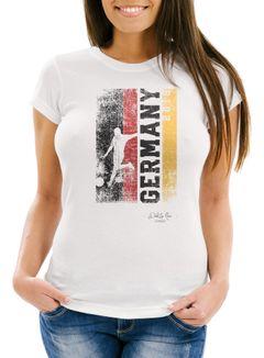 Damen Fan-Shirt Deutschland WM 2018 Fußball Weltmeisterschaft Trikot Germany Moonworks®