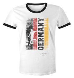 Herren WM-Shirt Vintage Flagge WM Fußball Weltmeisterschaft 2018 World Cup Deutschland 2018 Retro Moonworks®