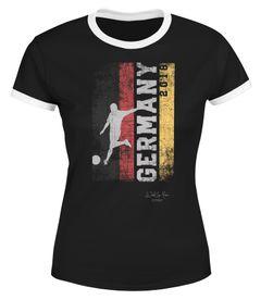 Damen WM-Shirt Vintage Flagge WM Fußball Weltmeisterschaft 2018 World Cup Deutschland WM 2018 Moonworks®