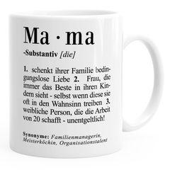 Kaffee-Tasse Mama Definition Dictionary Wörterbuch Duden Geschenk für Mama Mutter MoonWorks®