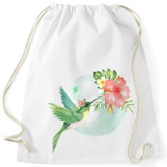 Turnbeutel Kolibri Vogel Tropical Summer Jungle Paradise Hummingbird Gymsac Gymbag Autiga®