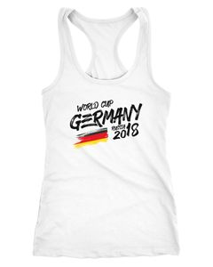 Damen Deutschland Tanktop WM Fußball Weltmeisterschaft 2018 World Cup Fan-Shirt Germany Moonworks®