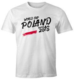 Herren Fan-Shirt Polen Poland Polska WM 2018 Fußball Weltmeisterschaft Trikot Moonworks®