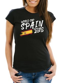 Damen Fan-Shirt Spanien Spain Espana WM 2018 Fußball Weltmeisterschaft Moonworks®