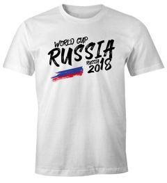 Herren T-Shirt Russland Russia Россия Fan-Shirt WM 2018 Fußball Weltmeisterschaft Moonworks®