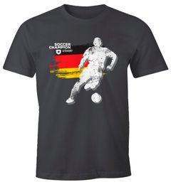 Herren T-Shirt Deutschland WM Fußball Spieler Retro Classics Moonworks®
