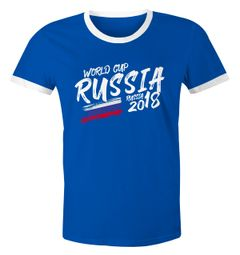 Herren T-Shirt Russland Russia Россия Fan-Shirt WM-Shirt Fußball Weltmeisterschaft 2018 World Cup Moonworks®