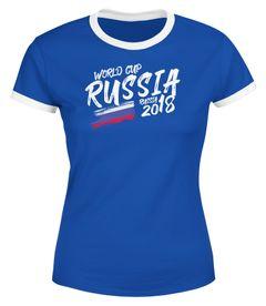 Damen T-Shirt Russland Russia Россия Fan-Shirt WM-Shirt Fußball Weltmeisterschaft 2018 World Cup Vintage Moonworks®