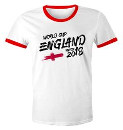 Herren T-Shirt England Fan-Shirt WM-Shirt Fußball Weltmeisterschaft 2018 World Cup Moonworks®