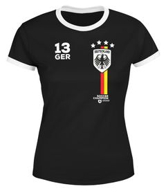 Moonworks® Damen Fan-Shirt Fußball Retro Deutschland Germany Weltmeisterschaft Fan-Trikot Style 2018 WM