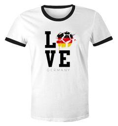 Herren WM-Shirt Deutschland Fan-Shirt Germany Love Fußball Moonworks®