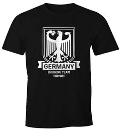 Lustiges WM Herren T-Shirt Germany Drinking Team Deutschland Fan-Shirt Moonworks®