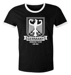 Lustiges WM Herren T-Shirt Germany Drinking Team Deutschland Fan-Shirt Moonworks®