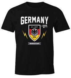 Herren WM-Shirt 2018 Deutschland Germany Retro Motiv Aufdruck Print